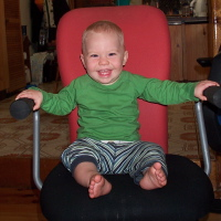 Zack in my chair