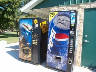 [Live Bait Vending Machine, at Lake Erie]