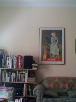[Our Messy Loungeroom, with a Picasso Print]