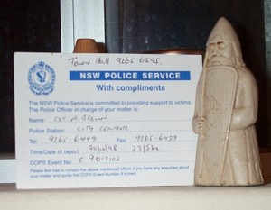 [NSW Police Card]