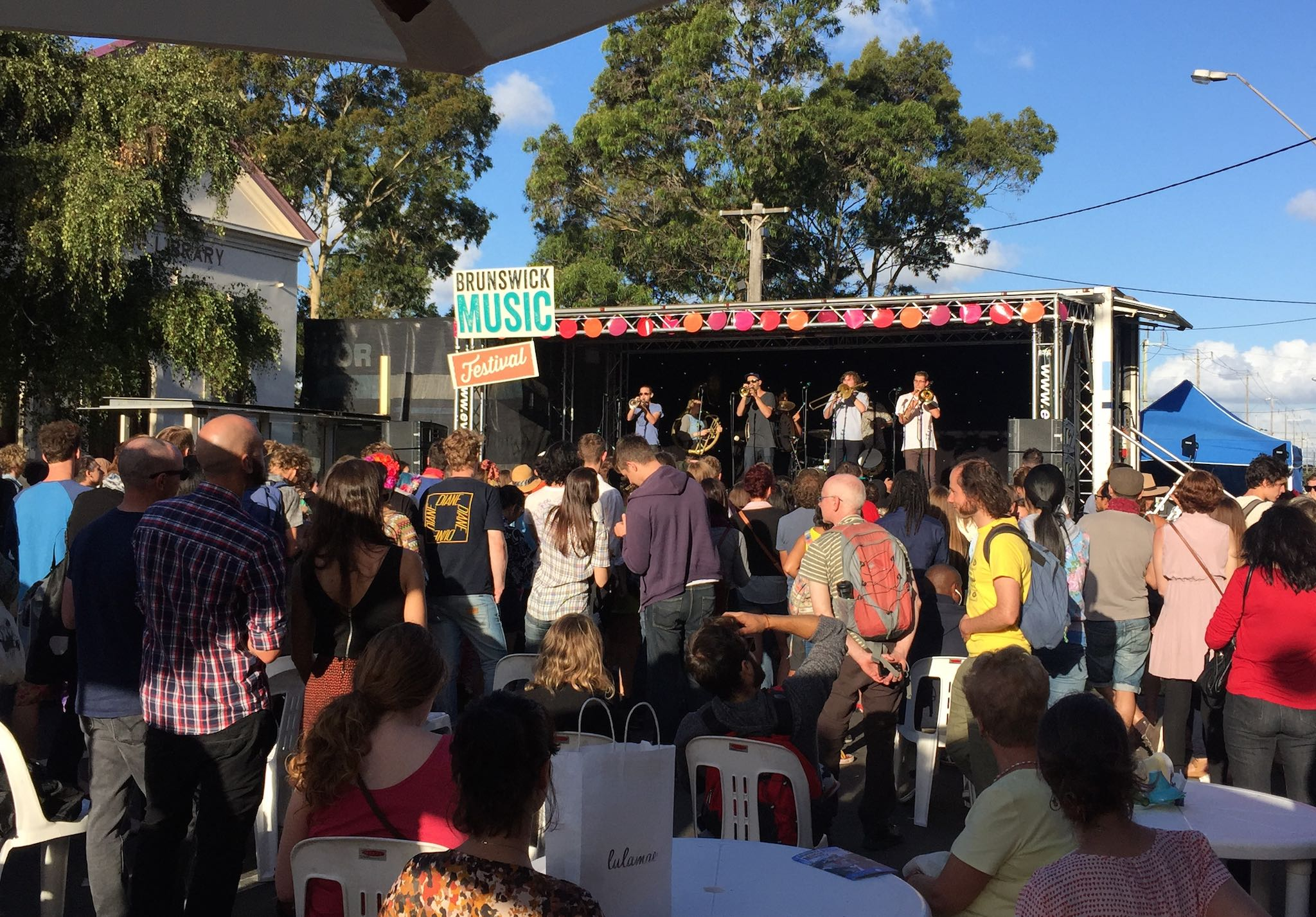 Live music at the Sydney Road Street Party