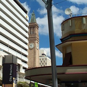 [From Queen Street Mall to the City Hall in Brisbane]