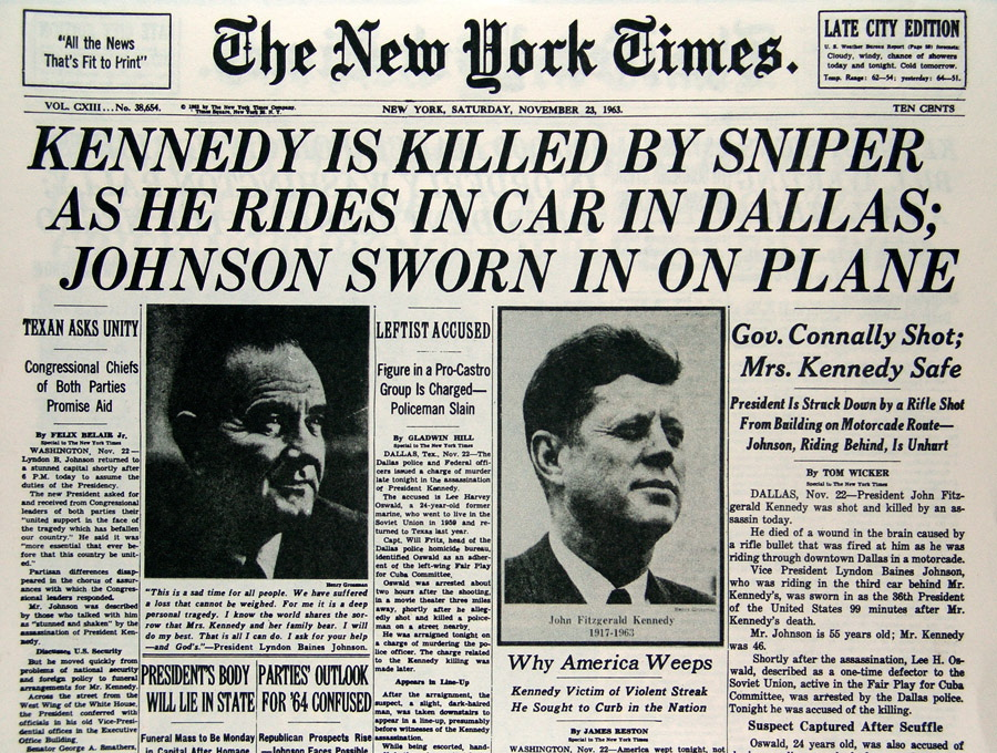 NYT Times Kennedy Cover