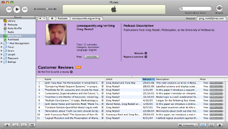 consequently.org/writing in iTunes